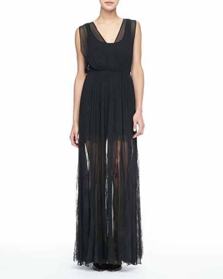 Sami Sheer-Overlay Dress