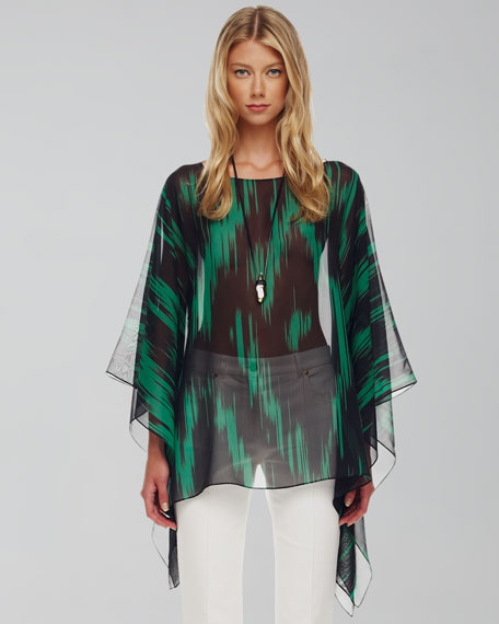 Printed Sheer Tunic