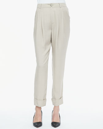 Cannes Pleated Cuffed Pants