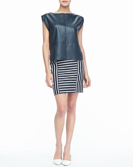 Barrow Striped Pencil Skirt