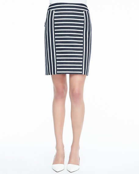 Barrow Striped Pencil Skirt