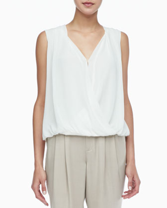 Quincy Draped High-Low Blouse