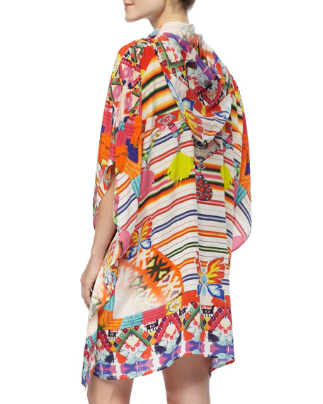 Beaded Hooded Short Caftan