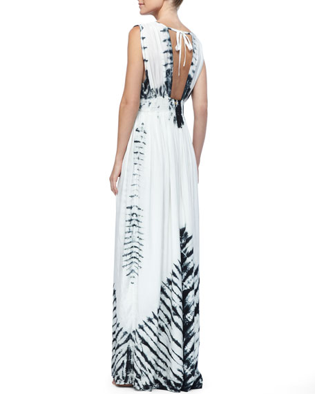 Sleevelss Maxi with Tie-Dye