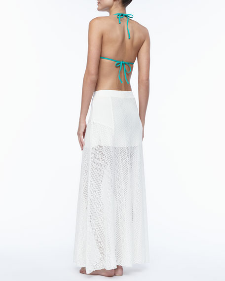 L Space Swimwear by Monica Wise Swept Away Crochet Skirt