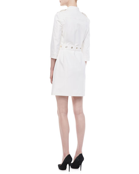 Belted Utility Twill Dress