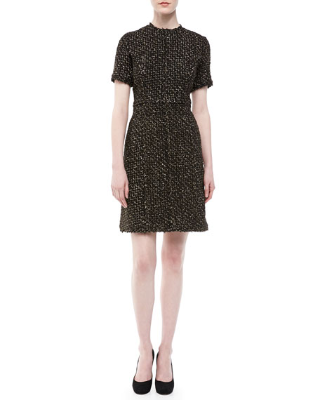 Metallic Tweed Dress