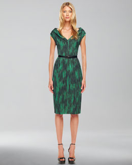 Michael Kors  Printed Cady Dress