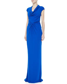 Michael Kors Draped Matte Jersey Gown