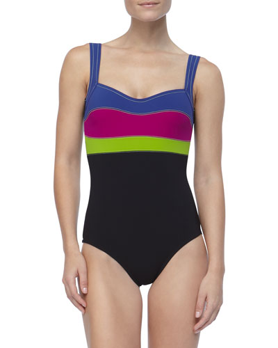 Karla Colletto Colorblock Underwire One-Piece