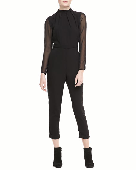Maxfield Long-Sleeve Jumpsuit