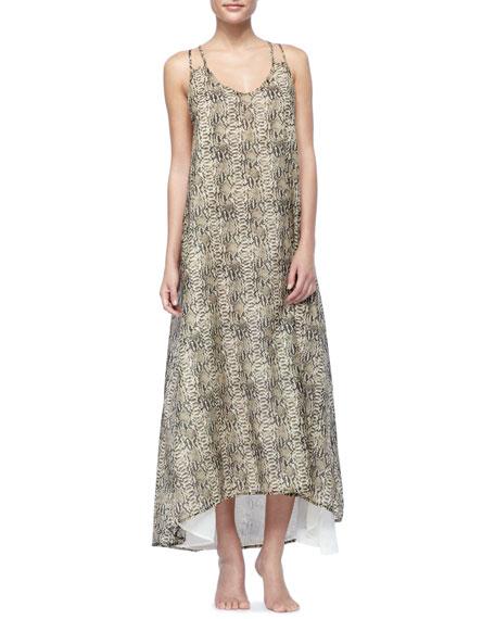 Rocha Python-Print Maxi Dress