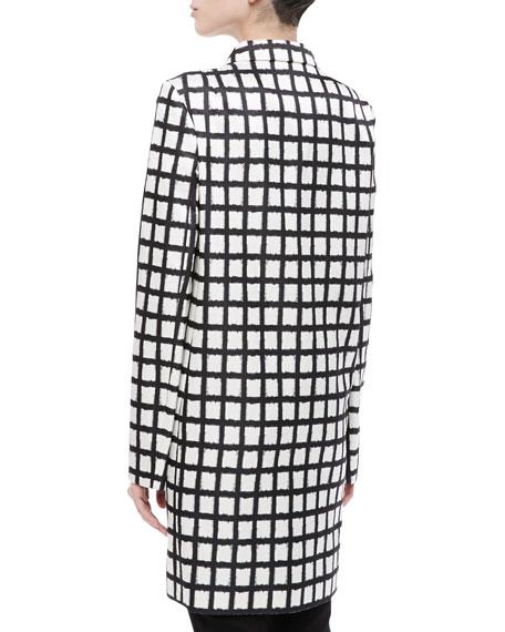 Ikat Duchesse Silk Reefer Coat