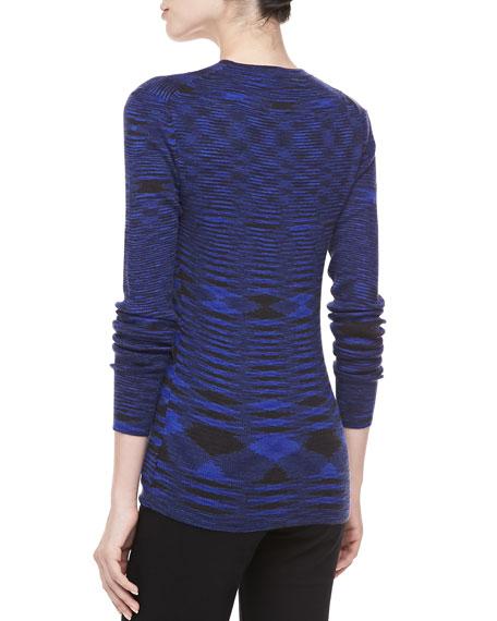 Space Dye Cashmere Cardigan, Sapphire