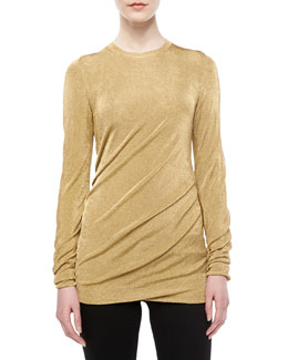 Michael Kors Bias Lame Torqued Top