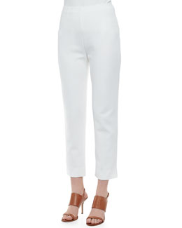 Joan Vass Slim Ponte Ankle Pants, Women's