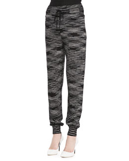 M Missoni Double-Knit Space Dye Pants