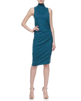 Halston Heritage Mock Neck Dress, Stargazer