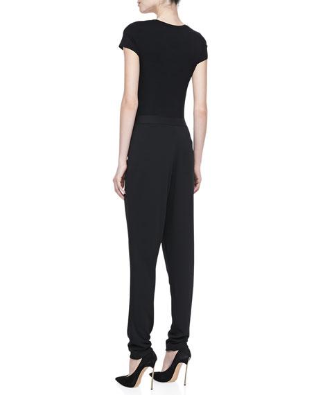 Asymmetric Pleated Pants