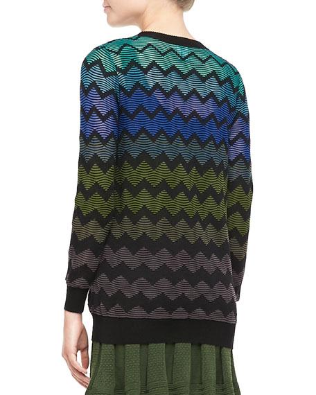 Zigzag Knit Cardigan