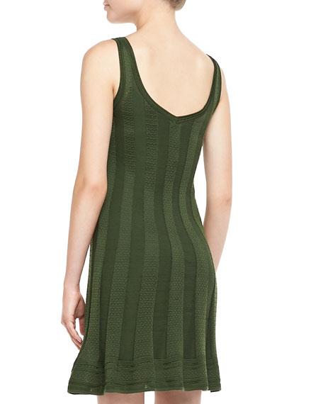 Sleeveless Ribbed Knit Dress