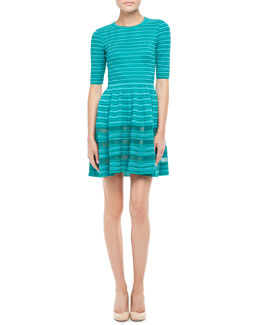 M Missoni Solid Rib Stitch Dress