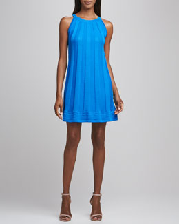 M Missoni Solid Knit Sleeveless Dress