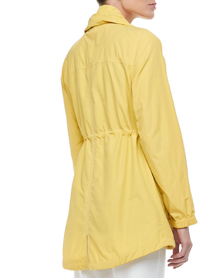 Weather-Resistant High-Collar Coat, Petite