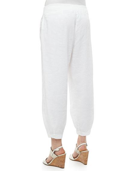 Drawstring-Waist Slouchy Capri Pants, Petite