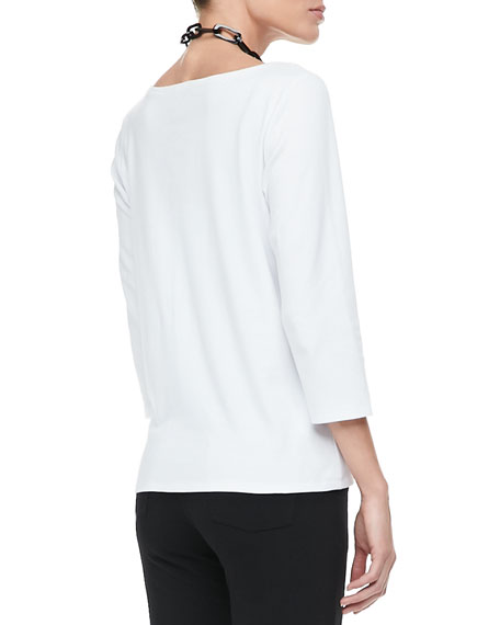 3/4-Sleeve Cotton Tee, Women's