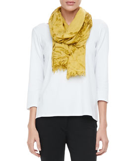 Eileen Fisher Shadow-Tinted Modal Scarf, Daisy