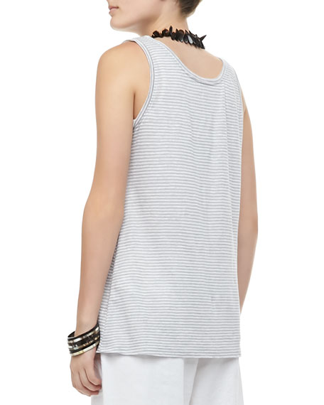 Organic Linen Jersey Striped Tank, Women's