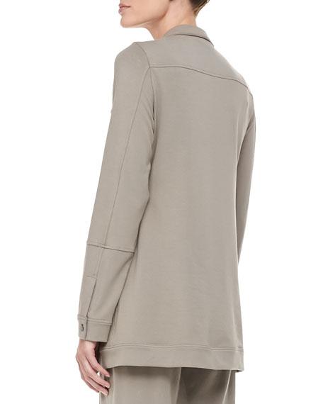 Organic Long Drawstring Jersey Jacket, Petite