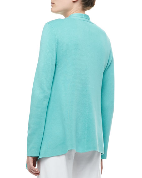 Silk-Cotton Interlock Jacket, Plus Size
