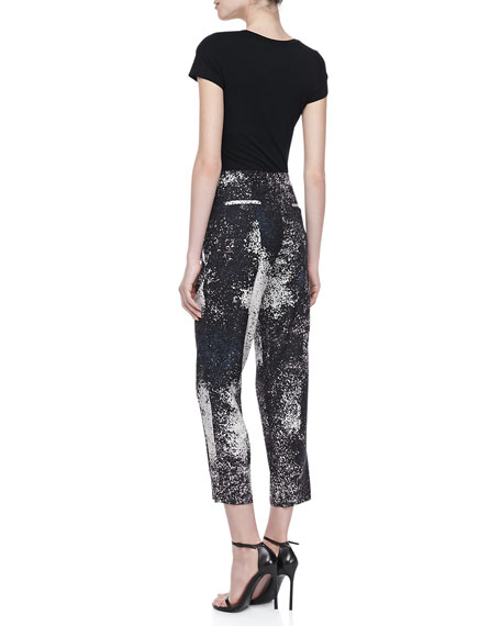 Cropped Pants, Charcoal