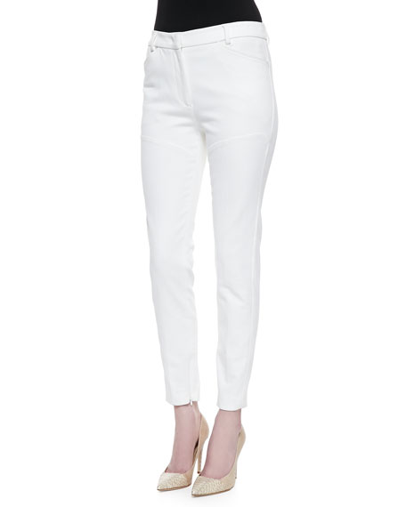 Cotton Skinny-Leg Pants