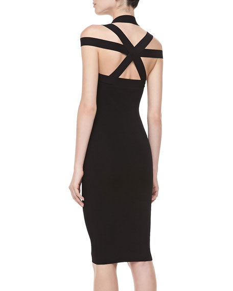 Fitted Cross-Back Dress