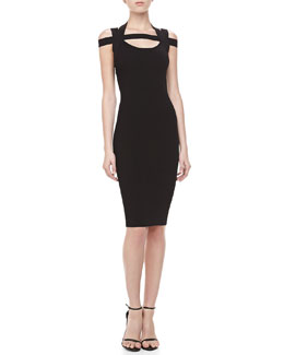 Michael Kors Fitted Cross-Back Dress
