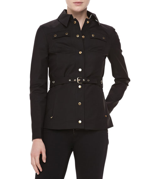Broadcloth Utility Jacket, Black