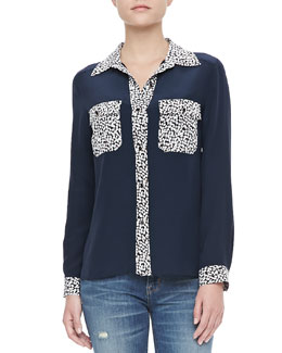 MARC by Marc Jacobs Bianca Print Crepe de Chine Blouse