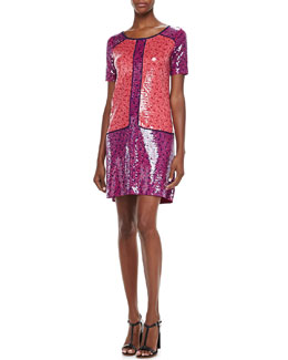 MARC by Marc Jacobs Viola Printed Sequined Dress