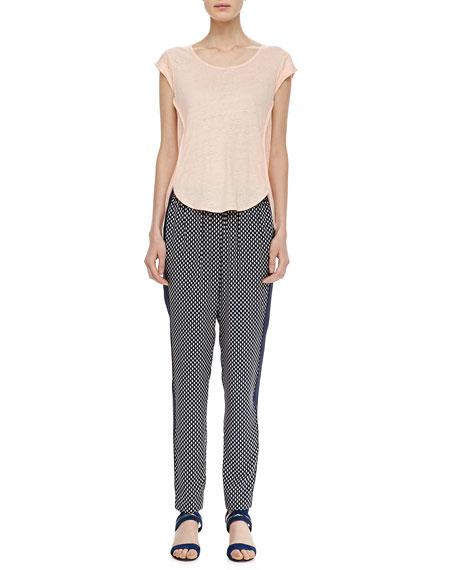 Juna Printed Side-Stripe Pants