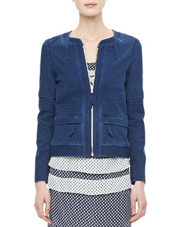 MARC by Marc Jacobs Tashi Twill Front-Zip Jacket
