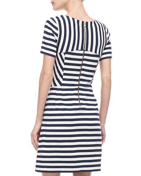 Yuni Striped A-Line Dress