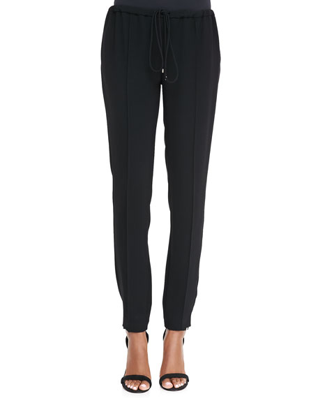 Drawstring Straight-Leg Pants