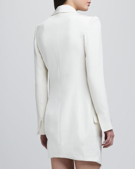 Oversize One-Button Asymmetric Blazer