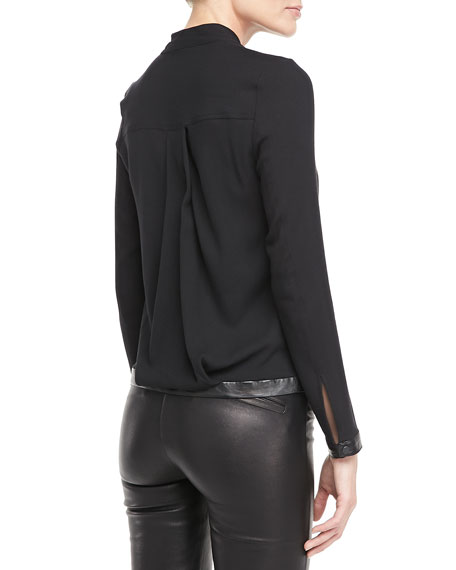 Morse Leather-Hem Top