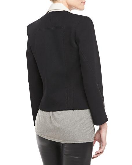 Performa Crepe Cropped Jacket