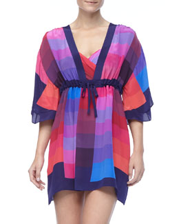 Gottex Short Colorful Swimsuit Coverup