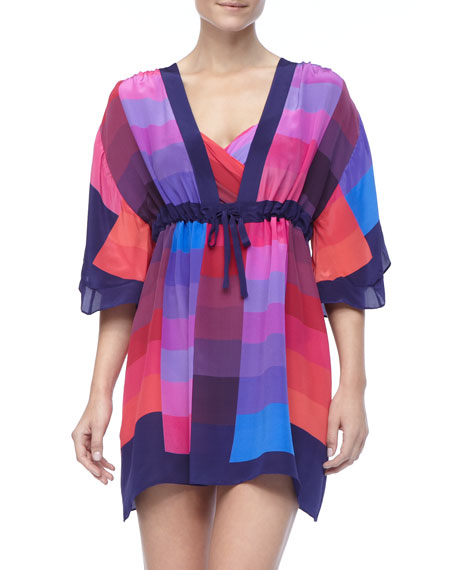 Short Colorful Swimsuit Coverup